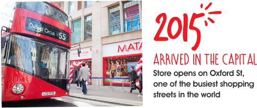2015, store opens on Oxford Street